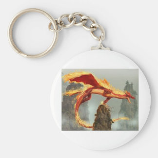 images (2)fire dragon basic round button key ring