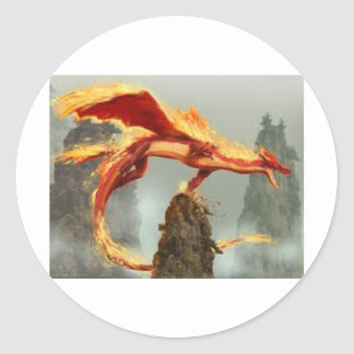 images (2)fire dragon round sticker