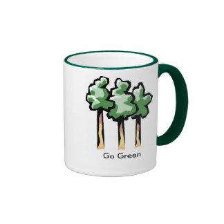 images, Go Green Ringer Mug