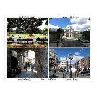 Images of Dublin postcard