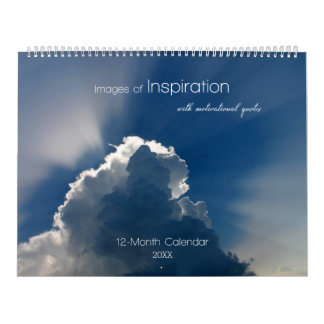 Images of Inspiration with Motivational Quotes Wall Calendar