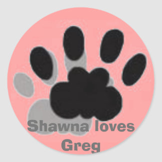 images, Shawna loves Greg Classic Round Sticker