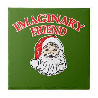 Imaginary Friend Santa Claus Small Square Tile