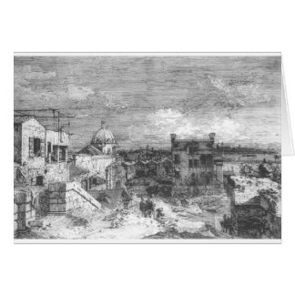 Imaginary View of Venice by Canaletto Greeting Card