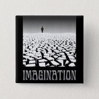 Imagination 15 Cm Square Badge