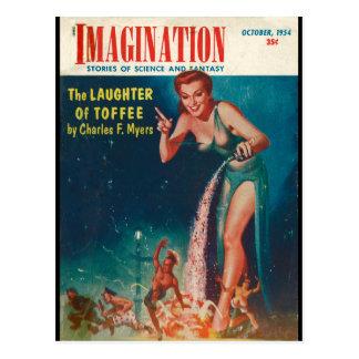 Imagination - 1954-10_Pulp Art Postcard