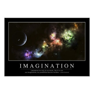 Imagination: Inspirational Quote Poster