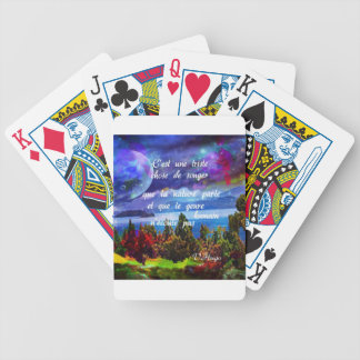 Imagination is a powerful tool bicycle playing cards