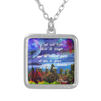 Imagination is a powerful tool silver plated necklace