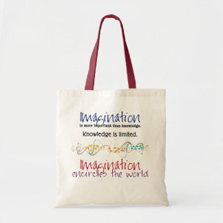 Imagination, more important than knowledge tote bag