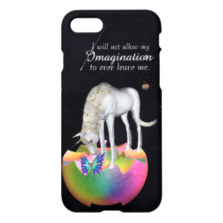 imagination unicorn butterfly iPhone 7 case