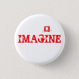 IMAGINE 3 CM ROUND BADGE