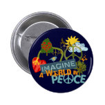 Imagine a World in Peace 6 Cm Round Badge