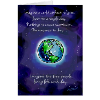 Imagine a World Without Religion Card