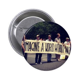 Imagine a World Without War Pin