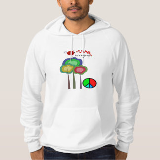 Imagine Artsy Peace Bird and Trees Hoodie