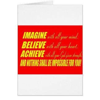 Imagine, Believe, Achieve Card