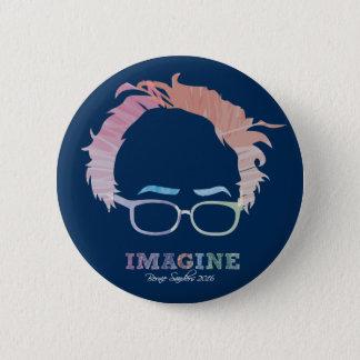 Imagine Bernie Sanders 2016 - watercolors 6 Cm Round Badge