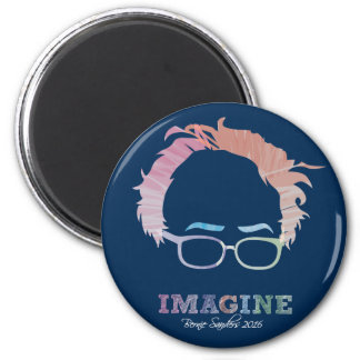 Imagine Bernie Sanders 2016 - watercolors Magnet