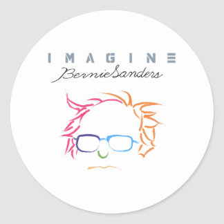 Imagine Bernie Sanders Classic Round Sticker