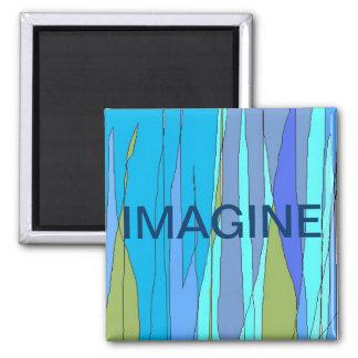 """Imagine/Blublu"" magnet"