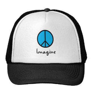 Imagine BLUE peace symbol Mesh Hats