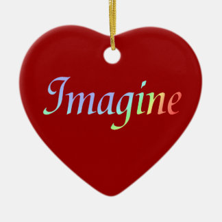 Imagine Colors Heart Ornament