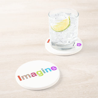 Imagine fun colorful inspiration gift beverage coaster