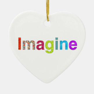 Imagine fun colorful inspiration gift ceramic heart decoration