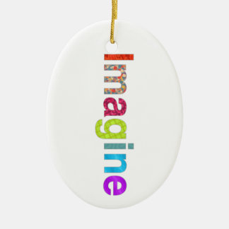 Imagine fun colorful inspiration gift ceramic oval decoration