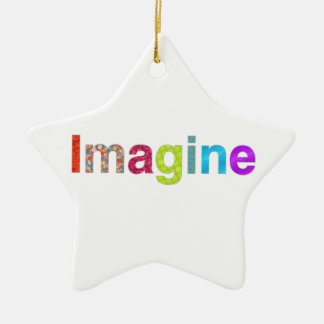 Imagine fun colorful inspiration gift ceramic star decoration