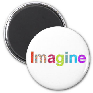Imagine fun colorful inspiration gift magnet