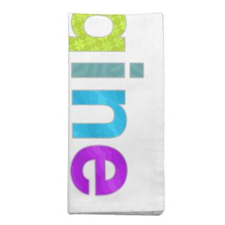 Imagine fun colorful inspiration gift napkin