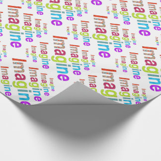 Imagine fun colorful inspiration gift wrapping paper