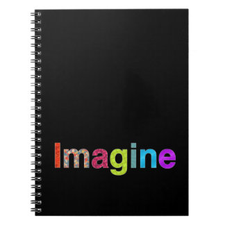 Imagine fun colorful inspiration Notebook / diary