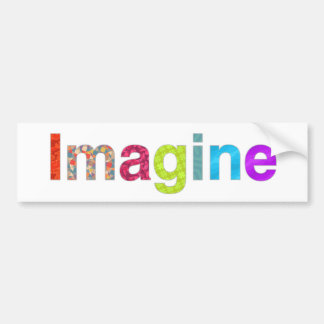 Imagine fun inspiration colorful Card Bumper Sticker