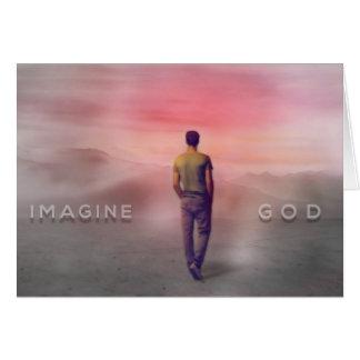 Imagine God Greeting Card