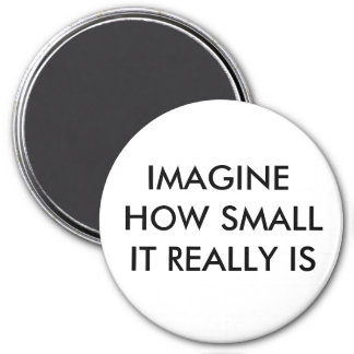 IMAGINE HOW SMALL IT REALLY IS MAGNET