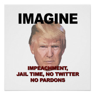 Imagine Impeachment, Jail, No Twitter, No Pardons Poster
