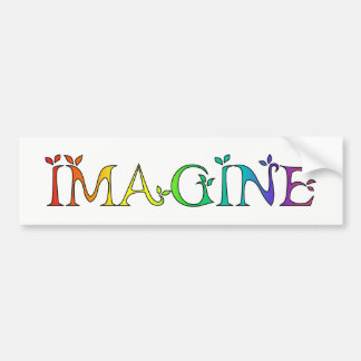 IMAGINE Inspirational Message Bumper Sticker