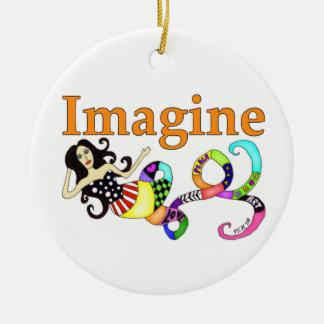 Imagine Mermaid Ceramic Ornament