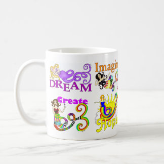 Imagine Mermaid & Friends Collage Coffee Mug
