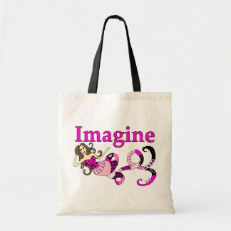 Imagine Mermaid Pink Edition Tote Bag