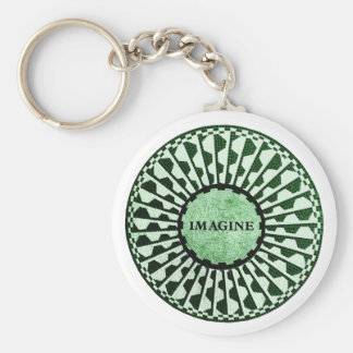 Imagine Mosaic, Strawberry Fields, Central Park 02 Basic Round Button Key Ring