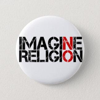 Imagine No Religion 6 Cm Round Badge