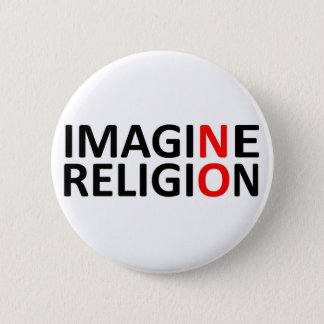 Imagine No Religion 6 Cm Round Badge