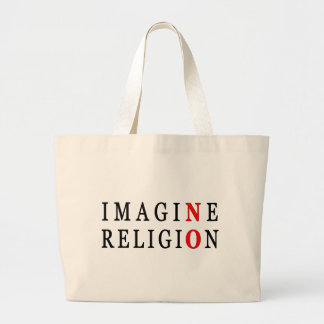 Imagine No Religion Jumbo Tote Bag