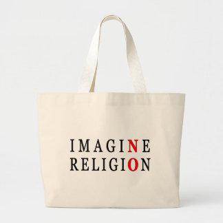 Imagine No Religion Jumbo Tote Bag