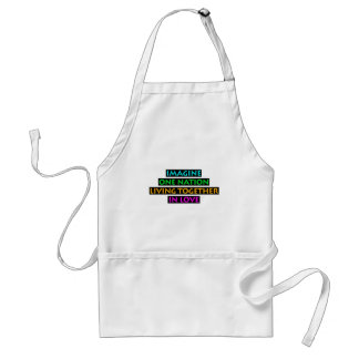 Imagine One Nation Living Together In Love Standard Apron