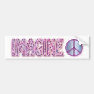 Imagine Peace Bumper Stickers